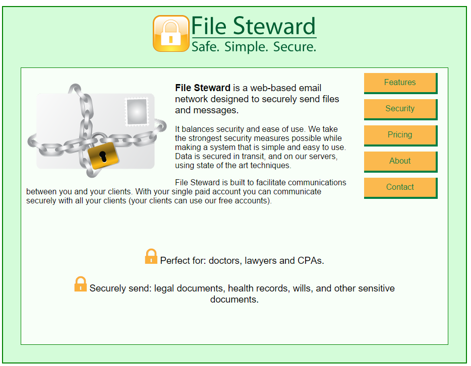 File Steward Main Page